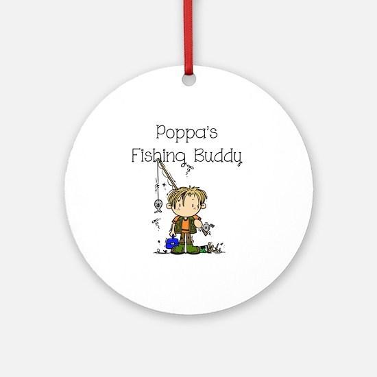 Poppa's Fishing Buddy Ornament (Round)