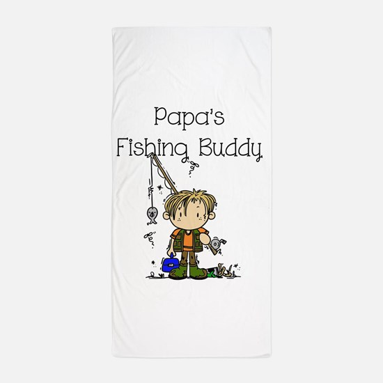 Papa's Fishing Buddy Beach Towel