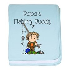 Papa's Fishing Buddy baby blanket