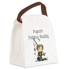 Papa's Fishing Buddy Canvas Lunch Bag