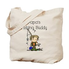 Papa's Fishing Buddy Tote Bag