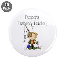 "Papa's Fishing Buddy 3.5"" Button (10 pack)"