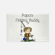 Papa's Fishing Buddy Rectangle Magnet