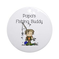 Papa's Fishing Buddy Ornament (Round)