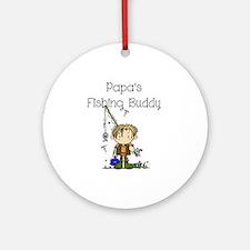 Papa's Fishing Buddy Ornament (Round)