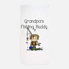 Grandpa's Fishing Buddy Beach Towel