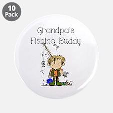 """Grandpa's Fishing Buddy 3.5"""" Button (10 pack)"""