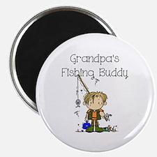Grandpa's Fishing Buddy Magnet