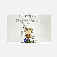 Grandpa's Fishing Buddy Rectangle Magnet