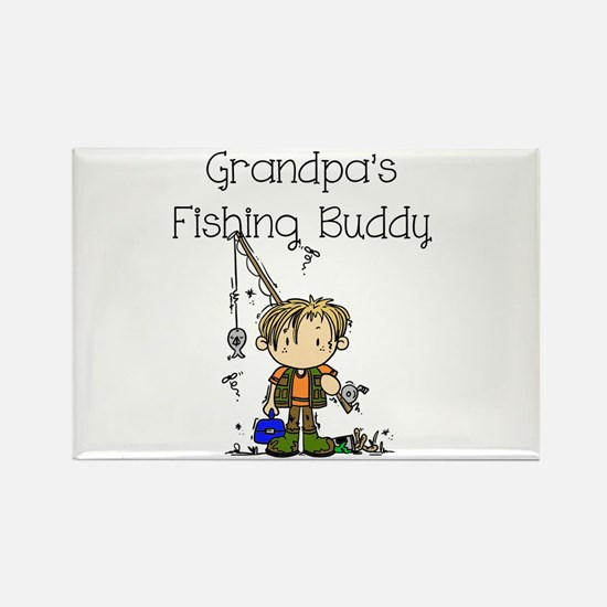 Grandpa's Fishing Buddy Rectangle Magnet