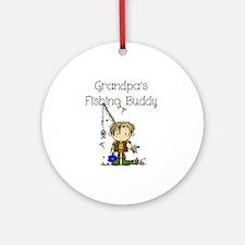 Grandpa's Fishing Buddy Ornament (Round)