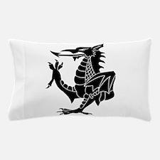 Black Tribal Dragon Pillow Case