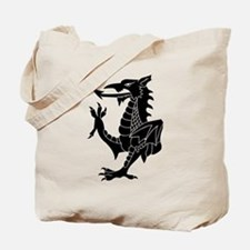 Black Tribal Dragon Tote Bag