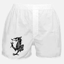 Black Tribal Dragon Boxer Shorts