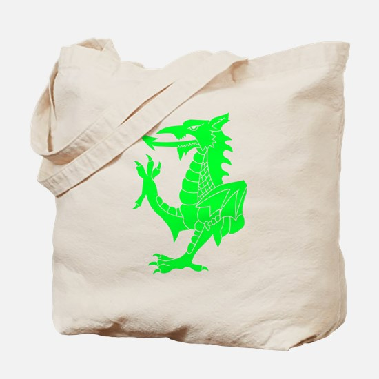 Green Tribal Dragon Tote Bag