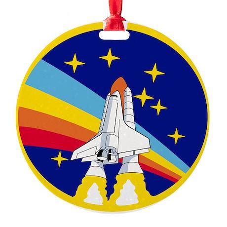 Rainbow Rocket Ornament