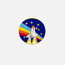 Rainbow Rocket Mini Button (10 Pack)