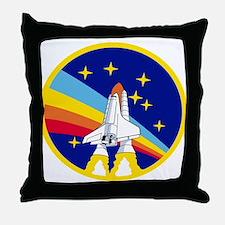 Rainbow Rocket Throw Pillow