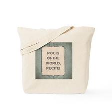 Poetry Slogan Tote Bag
