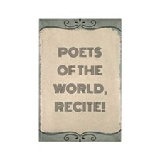 Poetry Slogan Rectangle Magnets