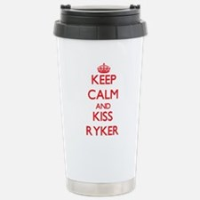 Keep Calm and Kiss Ryker Travel Mug