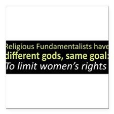 "Cute Fundamentalism Square Car Magnet 3"" x 3"""