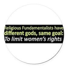 Cute Fundamentalism Round Car Magnet