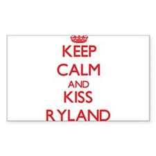 Keep Calm and Kiss Ryland Decal