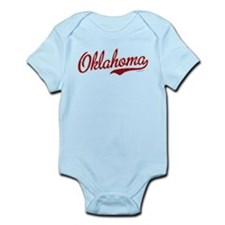 Oklahoma Script Font Garnet Infant Bodysuit