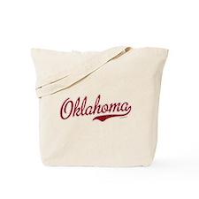 Oklahoma Script Font Garnet Tote Bag