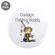 """Daddy's Fishing Buddy 3.5"""" Button (10 pack)"""