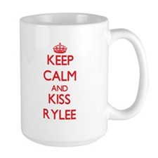 Keep Calm and Kiss Rylee Mugs