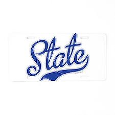 State Script Font Aluminum License Plate