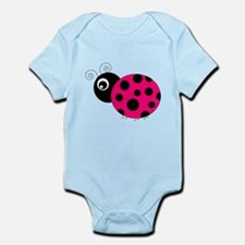 Hot Pink and Black Ladybug Body Suit