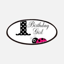 1st Birthday Girl Polka Dot Pink Ladybug Patches
