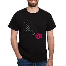 1st Birthday Girl Polka Dot Pink Ladybug T-Shirt