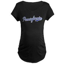 Pennsylvania Script Font Maternity T-Shirt