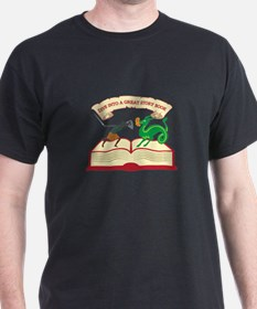 Dive Into A Great Story Book T-Shirt