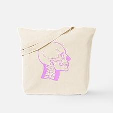 Pink X-Ray Skull Tote Bag