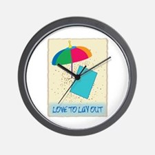 Love To Layout Wall Clock
