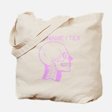 Custom Pink X-Ray Skull Tote Bag