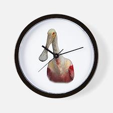 Spoonbill Portrait Wall Clock
