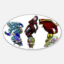 Cute Super villain Sticker (Oval)