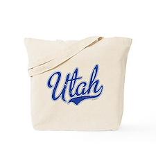 Utah State Script Font Tote Bag