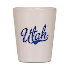 Utah State Script Font Shot Glass
