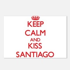 Keep Calm and Kiss Santiago Postcards (Package of