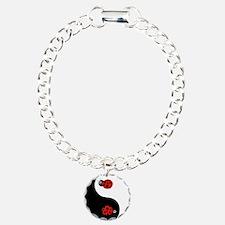 Ladybug Yin Yang Bracelet