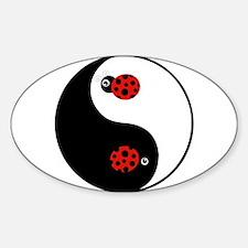 Ladybug Yin Yang Decal