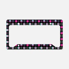 Retro Circle Pattern License Plate Holder