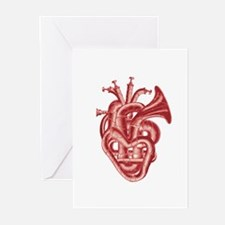 Heart music Greeting Cards